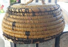 Vintage Hand Made Native American Indian Basket With Lid