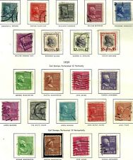 U.S.1938 U.S. PRESIDENTS BUSTS SET #802-834 1/2c-$5, Coils #839-851 WYSIWYG Lot