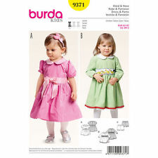 Burda Sewing Pattern 9371 SZ 3m-2Y Baby/Toddler Dress Peter Pan collar Panties