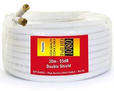30m SAT Koax Kabel 95db Satellitenkabel Koaxialkabel Stahl-Kupfer RG6-90 Koax
