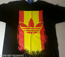 ADIDAS ORIGINAL SPAIN MLS TRE-FOIL BLACK/YELLOW/RED MENS TEE T-SHIRT SMALL S