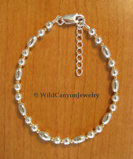 *Handmade* Sterling Silver & Gold Bead Adjustable Bracelet