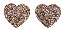 Swarovski Elements Crystal Heart Alana Pierced Earrings 18K Gold Plated 7271x