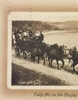 Postcard, 1912 Tally-Ho On The Dagley Trip, Victoria B.C. Canada, Vintage P19