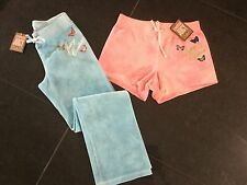 NWT Juicy Couture New & Gen. Pink Cotton Shorts & Pants Set Girls Age 8 & Logo