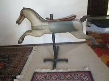 RESTORED ANTIQUE CHILD'S CAROUSEL / MERRY-GO-ROUND LEAPING HORSE / PONY.1800's