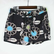 STUSSY Juniors Brown Floral Boardshorts Size 7