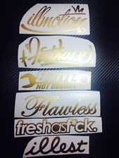 Mega GOLD Decal Sticker Pack JDM Sticker Bomb illest