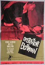 Fotobusta OPERAZIONE EICHMANN 1961 WERNER KLEMPERER, RUTA LEE, DONALD BUKA