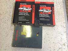 1990 Toyota TRUCK PICK UP Service Shop Repair Manual Set W TECHNICAL BULLETINS