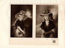 1929 PRINT ~ JOHN HOPPNER 1810 ~ HRH PRINCESS MARY & SOPHIA ~ KING'S COLLECTION