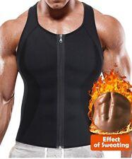 Men's Sweat Vest Body Shaper Zipper Slimming Sauna Tank Top Neoprene Compression