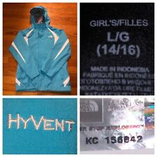 The North Face Girl's Blue HyVent Ski Snowboarding Shell Jacket Size Large