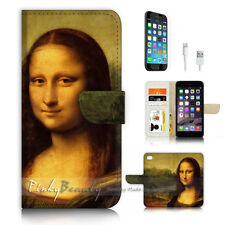 ( For iPhone 7 ) Wallet Case Cover P3385 Mona Lisa