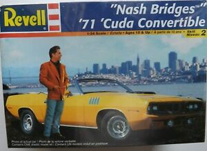 "1/24 REVELL ""Nash Bridges"" 1971 Cuda Convertible #85-2581 OOP/HTF/RARE ONLY ONE"