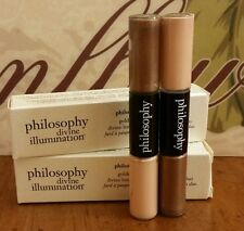 Philosophy Divine Illumination Eye Color Duo Brown Sugar/Gold Stardust~LOT OF 2