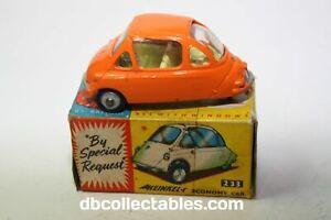 Corgi 233 Heinkel Bubble Car, VNM Condition in Original Box