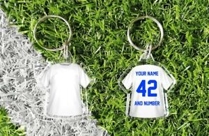 LEEDS personalised t-shirt keyring. Add your own name and number. retro