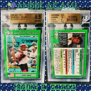 🎾 ANDRE AGASSI Netpro Rookie Card RC BGS 9.5 GEM Grand Slam SP 10 Corners!