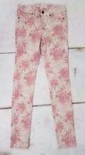 Joes Jeans Girl's Pants Size 14 Skinny Leg Floral Roses Stretch