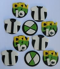 12 edible BEN 10 THEMED cake CUPCAKE topper DECORATION comic ALIENS omnitrix