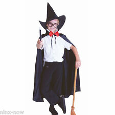 Harry Potter Wizard Boy Set Hat, Glasses, Wand and Cape fancy dress costume
