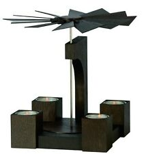 KWO Teelicht Pyramide Mooreiche modern lackiert Erzgebirge Olberhau 70066