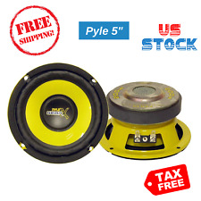 Stereo Speaker Pyle 5 Inch 200 Watt Mid Bass Woofer 4 Ohm Performance Car Audio