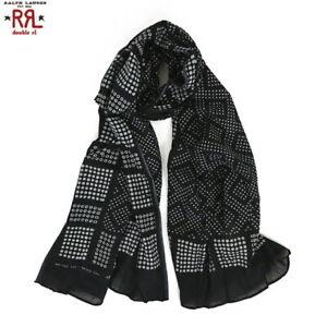 RRL by Polo Ralph Lauren Scarf Bandana - Black with polka dot