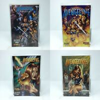 Lot of 4 Avengelyne Comic Books: Armageddon (signed), Vol 2 No. 7, 8, & 9