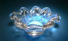 "EC Cristallerie Lorraine Crystal Glass Bowl 6"" long, 2"" tall"