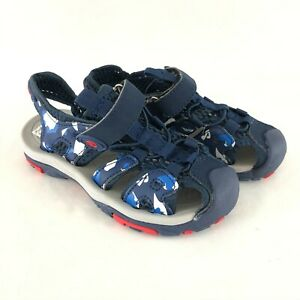 Toddler Boys Sport Sandals Closed Toe Fisherman Navy Blue Size 29 US 11.5