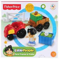 Brand New Fisher Price Little People Farm Tractor & Trailer Playset