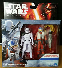 Hasbro Star Wars The Force Awakens Snap Wexley & First Order Snowtrooper Officer