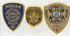 Hillsborough / Durmam / Cheshire (NEW HAMPSHIRE) Police/Sheriff Patches  (USED)