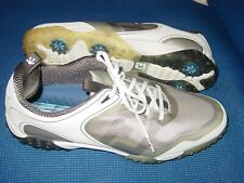 Footjoy 57330 Fj Freestyle Men 13 M White Gray Flex Zone Soft Spike Golf Shoe