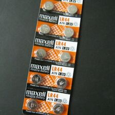 10 Pcs/Lot  LR44 MAXELL A76 Button Cell Coin 1.5V Alkaline Battery #Agtn