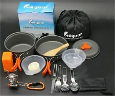 Outdoor 16 Pcs Camping Cookware Set, Camp Hiking Picnic Backpacking Cooking Kit