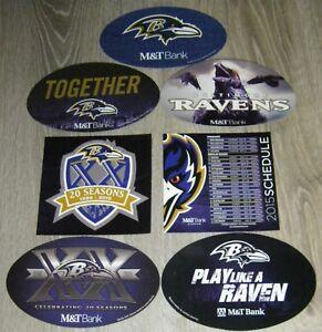 Baltimore Ravens 7 Magnet Lot including M&T 2018 and Celebrating 20 Seasons