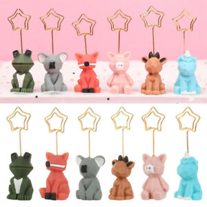 Cute Animal Shape Photo Paper Photo Stand Memo Clips Note holder Paper Clip NEW