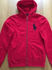 $115 NWT- POLO RALPH LAUREN Men's BIG PONY Full-Zip Sweatshirt Hoodie-RED-Large