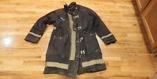 Black Fire Fighter Coat Vintage