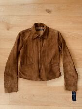 Ralph Lauren Polo Collection Women's Suede Biker Jacket Leather UK 6 New