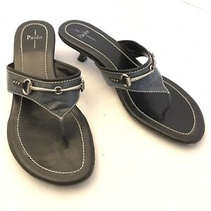 Linea Paolo Horse Bit Kitten Heel Sandals 10.5 M