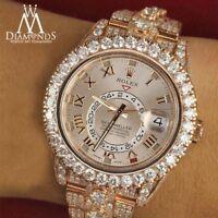 Sky Dweller Rose Gold Diamond Band Sunburst Roman Numeral Dial 326935 Watch