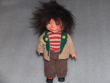 Vintage Plastic And Rubber Doll In Original Costume - Boy, Germany- Gdr/Ddr
