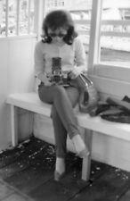 T638 Original 35mm photo NEGATIVE 1950s ? Hong Kong? woman glasses camera old