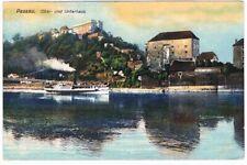 Ansichtskarte AK Postkarte Passau Ober- und Unterhaus Dampfer Schiff um 1910