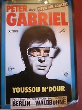 Peter Gabriel  Youssou N´Dour  Berlin 11. Sept 1987 Tourposter Konzertplakat