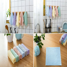 Pack Of 6 Terry Tea Towels Set Kitchen Dish Cloths Cleaning Hand Drying 26*26cm